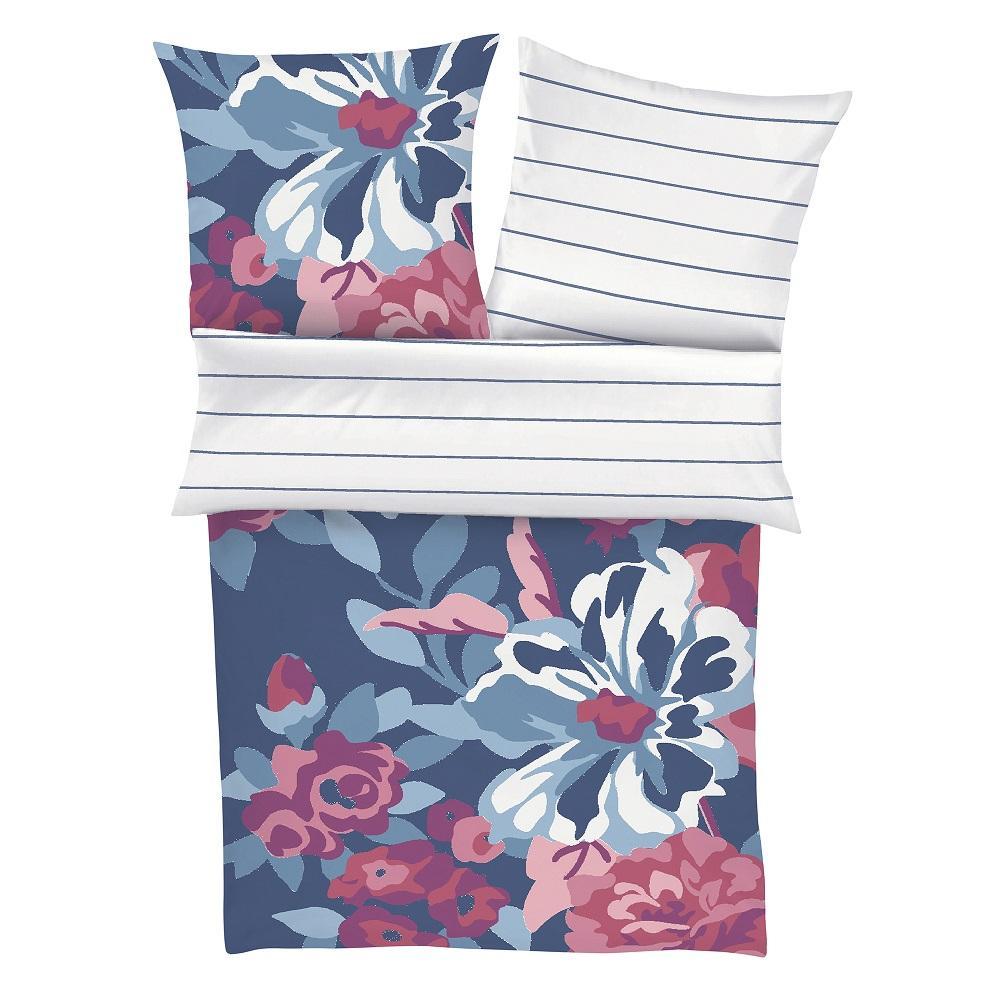 posteljnina s. oliver 5934-670 rože in črte