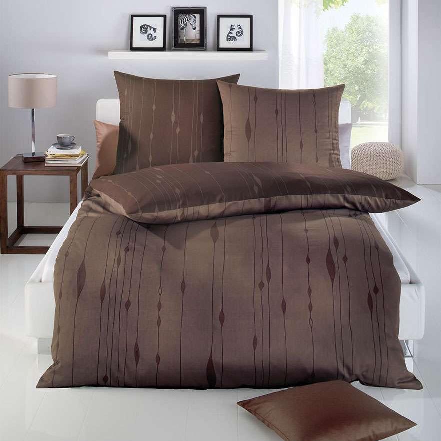 posteljnina iz satena kaeppel cocoon temno rjava