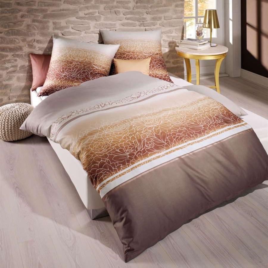 posteljnina iz satena kaeppel maco satin divine rjava