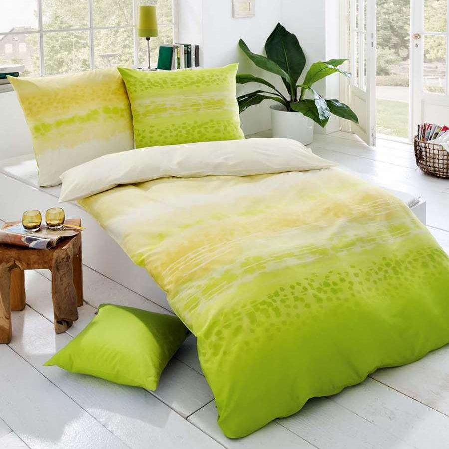 posteljnina iz satena kaeppel sweet home soul zelena