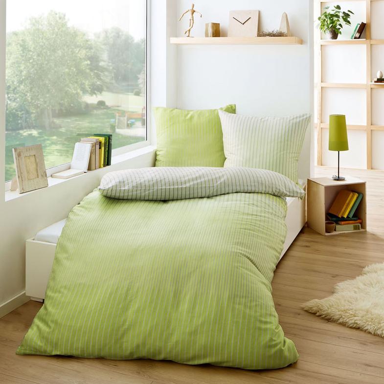 posteljnina iz satena kaeppel skala - zelena