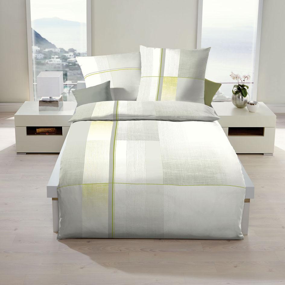 posteljnina iz satena kaeppel weave siva