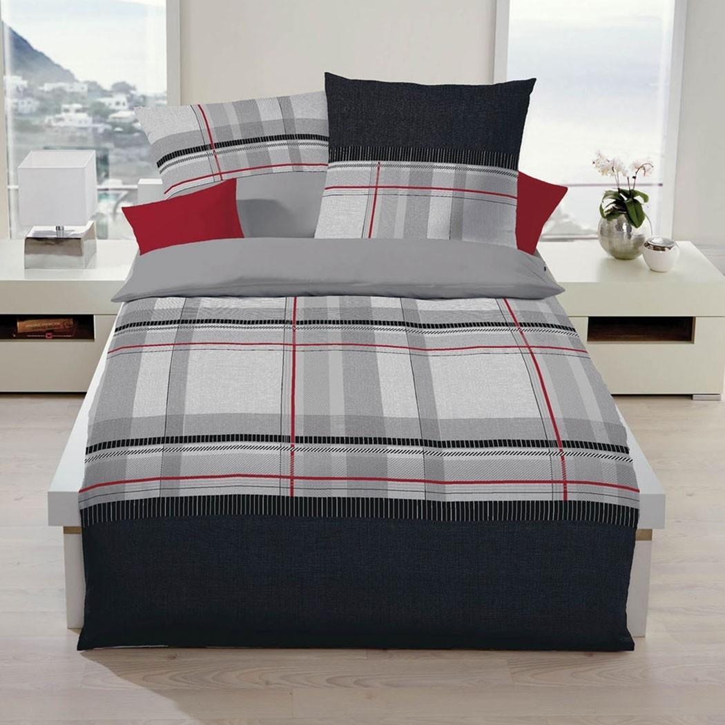 posteljnina iz satena kaeppel cape črna