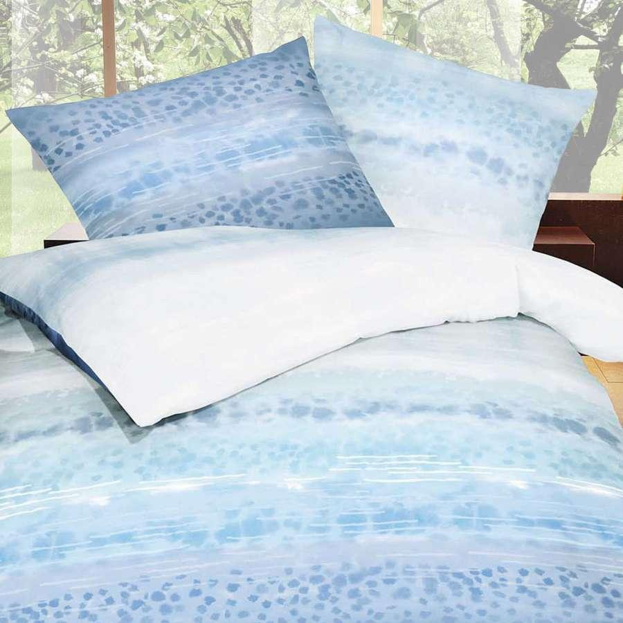 posteljnina iz satena kaeppel sweet home soul modra