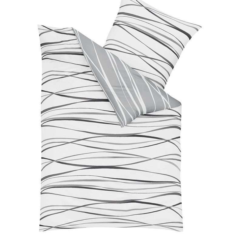 posteljnina iz satena kaeppel motion siva
