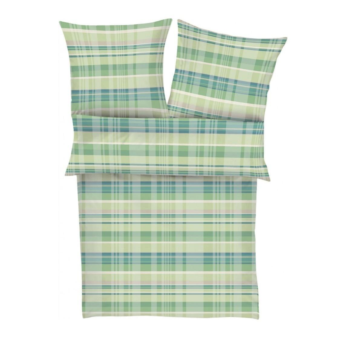 posteljnina iz satena ibena - karo zelena