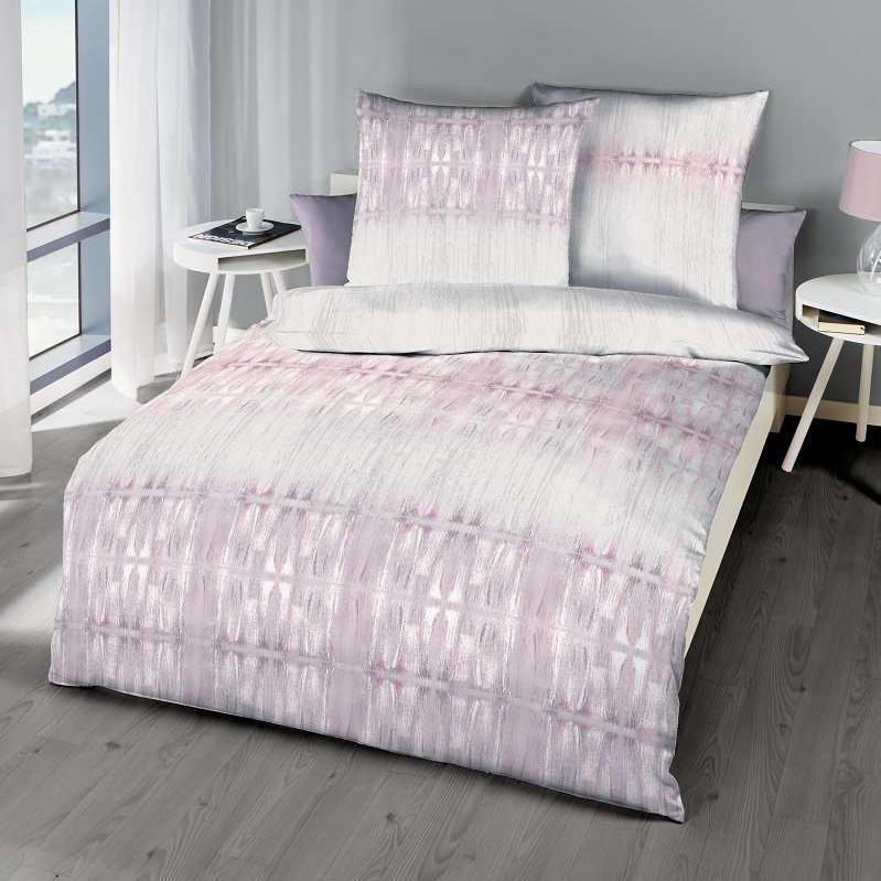 posteljnina iz satena kaeppel sweet home symetry roza