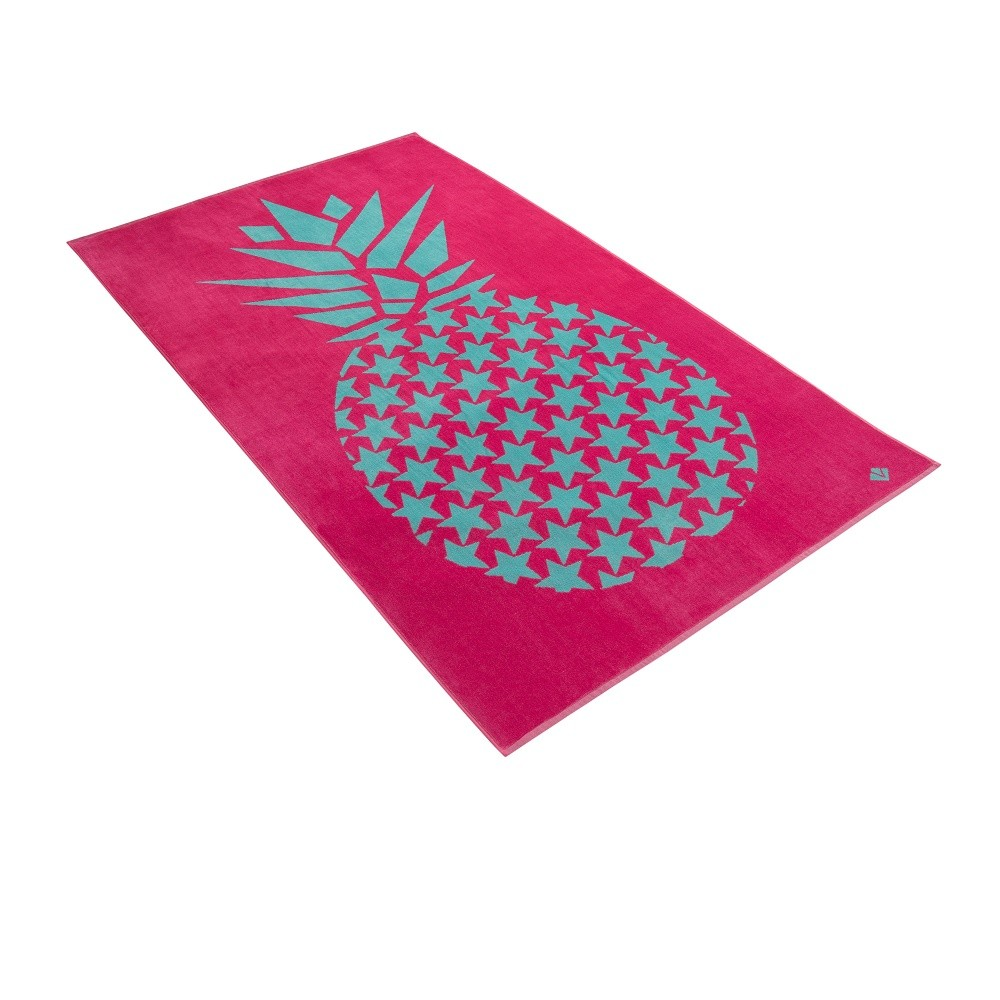 brisača za na plažo sweet pineapple roza