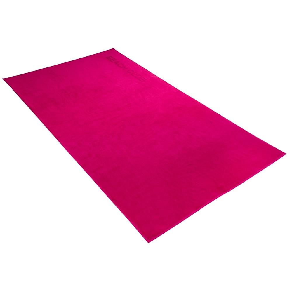 brisača za na plažo beach club roza